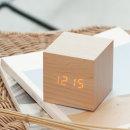 정사각 스마트 LED 탁상시계 알람기능 사운드제어모드