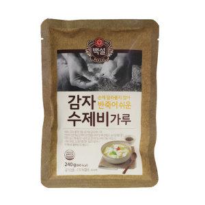 CJ 백설 반죽이 쉬운 감자수제비 가루 240g 10개