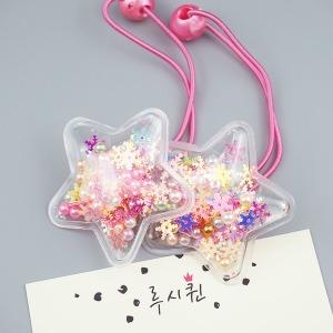 비닐 사각사각 토핑 별 방울머리끈(1쌍) 5 color