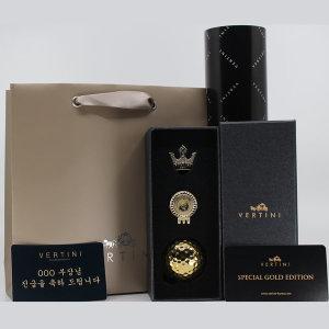 베르티니 24K 도금 골프공 1구 선물세트 홀인원기념품