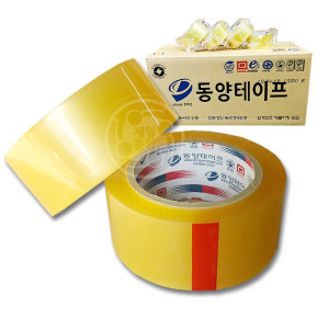 동양테이프 투명 70m 1박스40개 OPP 러버 포장용테이프