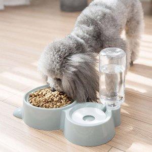 고양이 자동 밥 물 한번에 그릇 애견 강아지 급수기