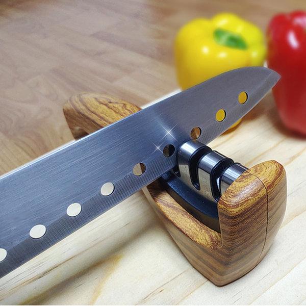 세라믹 칼갈이 칼 연마기 가위 갈이 3단계 샤프너
