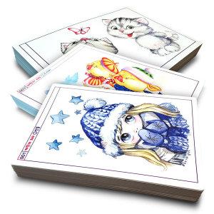 캐릭터 300 (인물캐릭터 수채화캐릭터 색연필캐릭터) 아동 애니메이션 미술교재