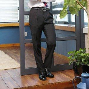 남성 클래식 원턱 양복 수트 정장바지 LO-SP0A-80-블랙