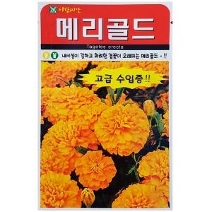 메리골드 씨앗 중륜20립화경5~6cm 일년생 생육이빠름