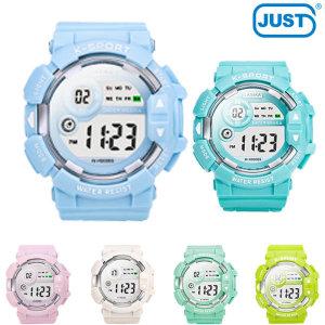 3기압 방수 빅페이스 스타일 어린이 전자손목시계 6색