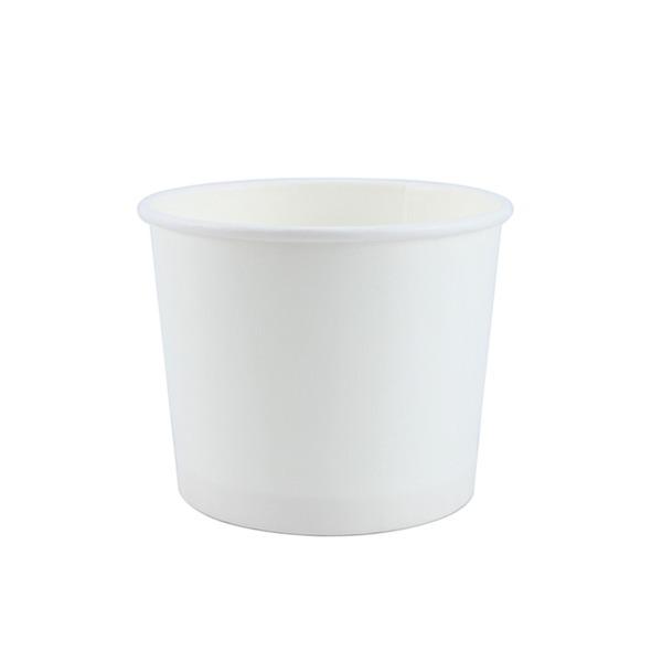 white 350cc 종이그릇 100개 / 컵밥 아이스크림 강정