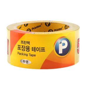 프린텍 포장용 투명테이프 P4840 48x45mm 박스테이프