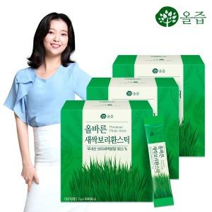 올바른 새싹보리환스틱 30포 3박스 /국내산 보리새싹
