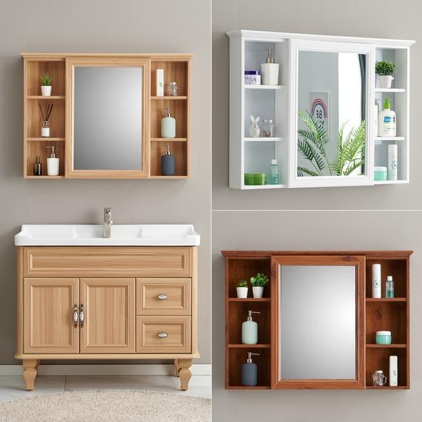 홈스월드 거울 수납장 욕실 거울장 욕실장 선반