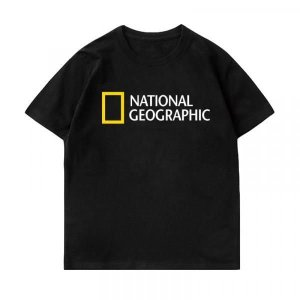 남녀 여름 브랜드 반팔 내셔널지오그래픽 로고 티 DHMG