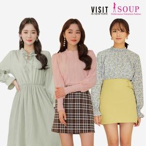 SOUP 본사 봄신상 트렌치코트 원피스/블라우스