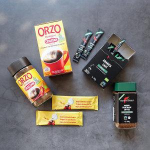 유기농 오르조 와 디카페인 커피