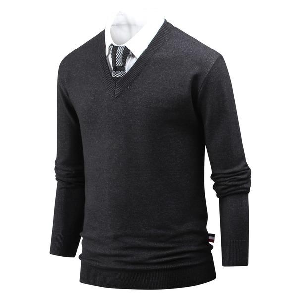 남성 스웨터 스웨터 유행안타는 브이넥 니트 ts3980