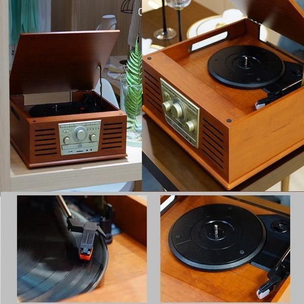멀티 올인원오디오 턴테이블 블루투스 FM CD USB-T6