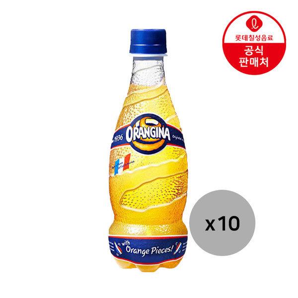 오랑지나 420ml 10펫 /오렌지맛 탄산