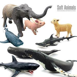 반디 혹등고래/백상어/고래상어/돼지/코끼리/양/선택