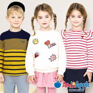 티셔츠/유아복/아동복/롱티/맨투맨/라운드/블라우스