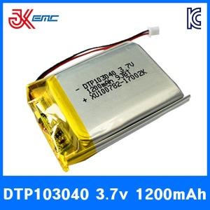 리튬폴리머 배터리 DTP 103040 3.7V 1200mAh KC인증