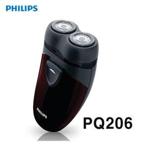 (필립스 ) PQ-206 전기면도기 PQ206 / 2헤드/휴대용/건전지식