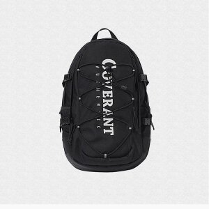 커버낫 AUTHENTIC LOGO RUCK SACK BLACK