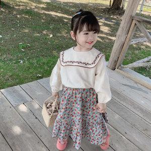 여아아동복 아동봄옷 블라우스/스퀘어블랑 꽃치마세트