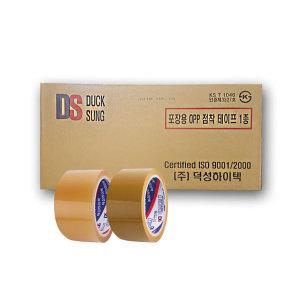 덕성 opp 박스 테이프 투명 미색 48mm-BOX(50개입)