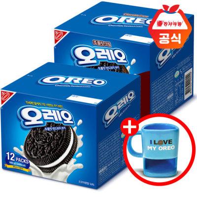 [오레오] 오레오 쿠키 화이트600g+초코600g +쿠키머그 증정
