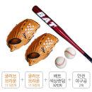 야구 용품 세트 야구공 글러브 배트 왼손잡이세트 D