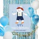 ~제작~D1537_마블풍선(블루)+현수막 8종세트/생일상