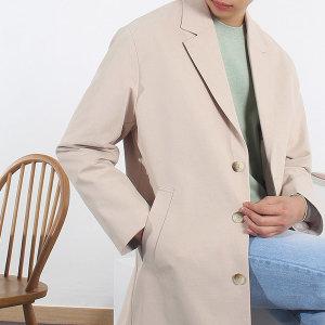 남성 간절기 코트 빅사이즈 오버핏 하프코트 자켓
