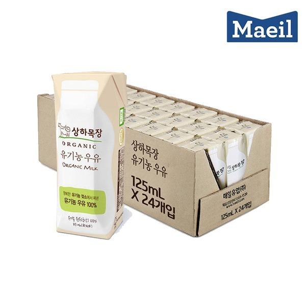 상하목장 유기농 멸균우유 125ML 24팩