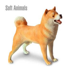 반디 시바견-브라운 소프트애니멀 강아지 피규어완구