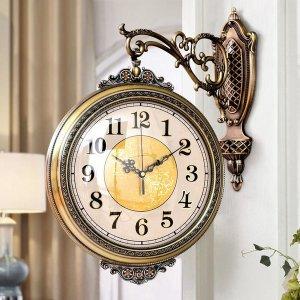 거실 럭셔리 대기패션 가정용 유럽식 벽시계 양면시계