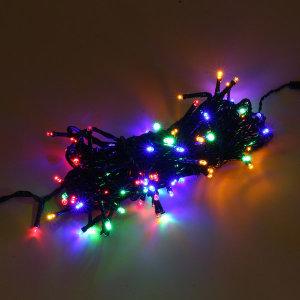100구 녹색선 LED 전구/10M 점멸 칼라 트리전구
