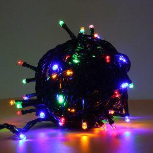 100구 녹색선 LED 전구/ 10M 칼라 연결형 트리전구