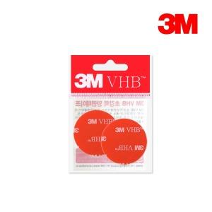 3M VHB 양면테이프 원형 2P/하이패스 블랙박스