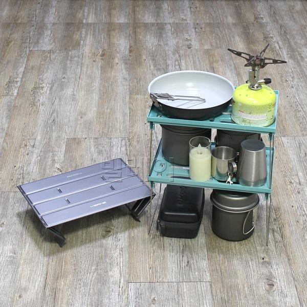백패킹 쉘프 미니멀캠핑 보조테이블 캠핑 미니쉘프