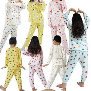 아동잠옷/흰둥이/상하세트/캐릭터/유아잠옷/도형/짱구