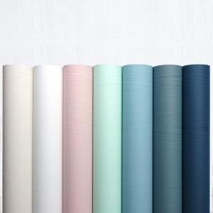 인테리어 필름 시트지 단색 무늬목 싱크대 포인트벽지