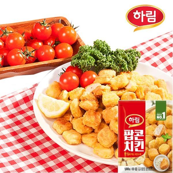 팝콘치킨1kg+치킨너겟1kg/굿하림