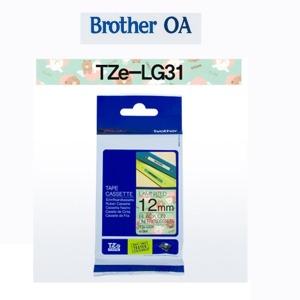 TZe-LG31 (라인프렌즈 라벨테이프)그린바탕