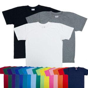 20수 기본 무지 반팔 긴팔 라운드 티셔츠 단체 인쇄