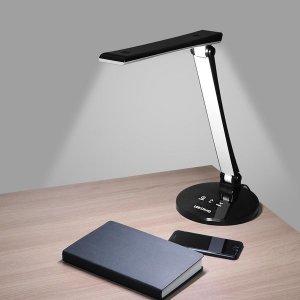 슬림형 LED 학생용 스탠드 ARS-0219 센서 5단조절 블랙