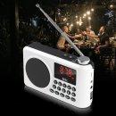 효도라디오 MP3재생 손전등 휴대용 스피커 화이트