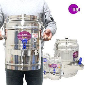 티알엠 대형 보온보냉물통 업소용 스텐보온물통 30리터
