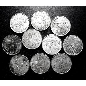 미국 주화 주성립 기념 쿼터달러 10개 일괄(xf)
