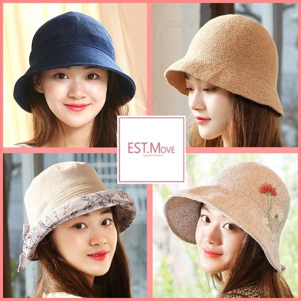 벙거지모자 버킷햇 여성모자 여자  봄 여름 패션 모자