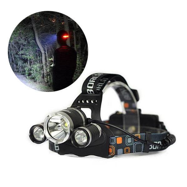 충전지용 CREE LED 3구 헤드 랜턴 써치 라이트 후레쉬
